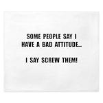 Bad Attitude King Duvet