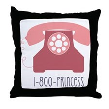 1-800-PRINCESS Throw Pillow