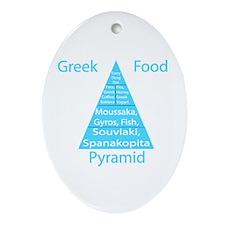 Greek Food Pyramid Ornament (Oval)