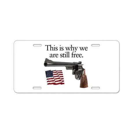 Guns keep our freedom Aluminum License Plate