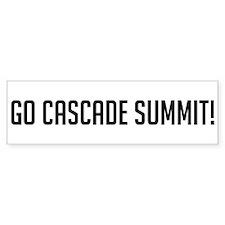 Go Cascade Summit Bumper Bumper Bumper Sticker
