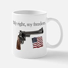 Second amendment my right my freedom Mug