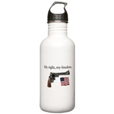 Second amendment my right my freedom Water Bottle