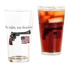 Second amendment my right my freedom Drinking Glas