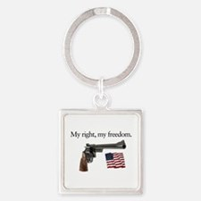 Second amendment my right my freedom Square Keycha
