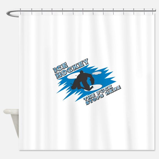 1puckstops here copy.png Shower Curtain