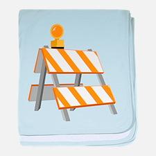 Construction Barrier baby blanket