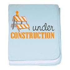 Under Construction baby blanket