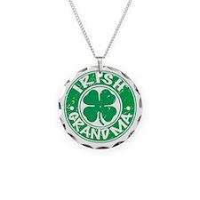 Irish Grandma Necklace Circle Charm