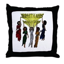 Jephthas Daughters Throw Pillow