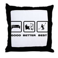 Yo-Yo Player Throw Pillow