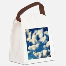 Fluffy Clouds Print Canvas Lunch Bag
