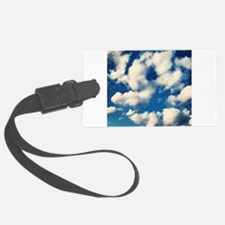 Fluffy Clouds Print Luggage Tag