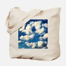Fluffy Clouds Print Tote Bag