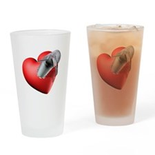 Cute The hearts of the dolphins Drinking Glass