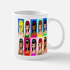 10 faces of girls Mug