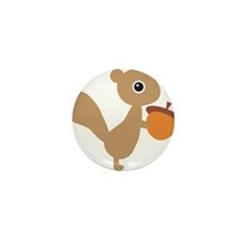 Squirrel Mini Button (10 pack)