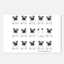 One of These Pugs! Postcards (Package of 8)