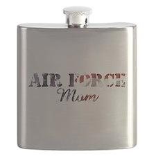 AF Mom American Flag Flask