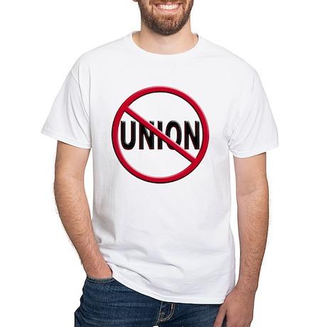 Anti-Union White T-Shirt
