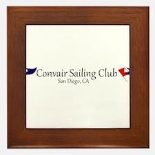 Convair Sailing Club License Plate Frame Framed Ti