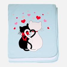 Love Cats baby blanket