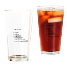 Golf Checklist Drinking Glass