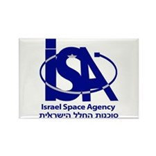 Israel Space Agency Rectangle Magnet