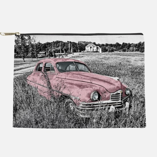 vintage pink car Makeup Pouch