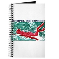 1972 Comoro Skin Diver Spearfishing Postage Stamp