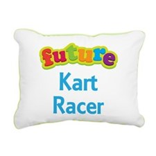 Future Kart Racer Rectangular Canvas Pillow