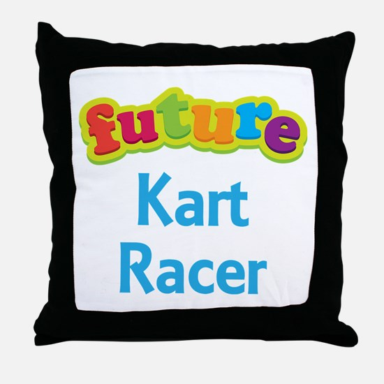 Future Kart Racer Throw Pillow