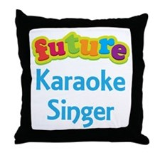 Future Karaoke Singer Throw Pillow