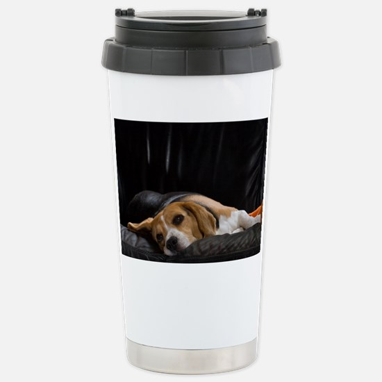 Lazy Beagle - Stainless Steel Travel Mug