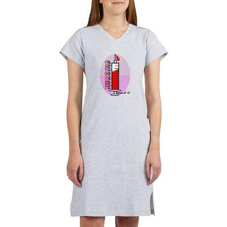 Giant syringe pinks Women's Nightshirt