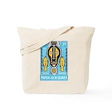 1966 Papua New Guinea Marai Taukoru Stamp Tote Bag