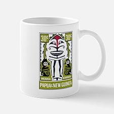 1966 Papua New Guinea Meavea Kivovia Stamp Mug
