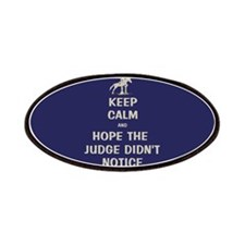Funny Keep Calm Horse Show Patches