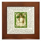 St patrick breastplate Framed Tiles