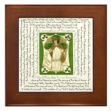St patrick breastplate Framed Tiles