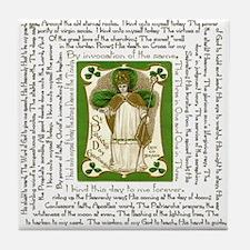 St. Patrick's Breastplate Tile Coaster