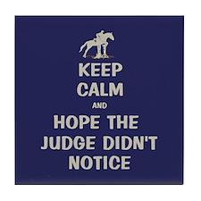 Funny Keep Calm Horse Show Tile Coaster
