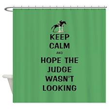 Funny Keep Calm Horse Show Shower Curtain