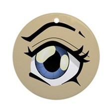 Manga Eye Round Ornament
