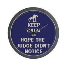 Funny Keep Calm Horse Show Wall Clock