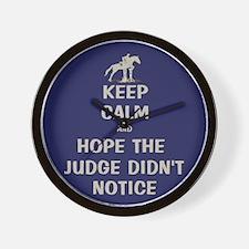 Funny Keep Calm Horse Show Wall Clock