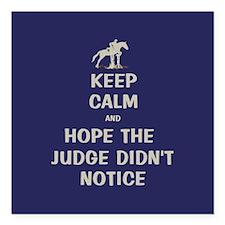 "Funny Keep Calm Horse Show Square Car Magnet 3"" x"