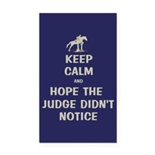 Funny Keep Calm Horse Show Rectangle Car Magnet