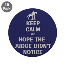 "Funny Keep Calm Horse Show 3.5"" Button (10 pack)"