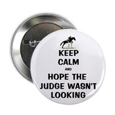 "Funny Keep Calm Horse Show 2.25"" Button"
